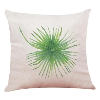 Big Leaf Tropical Plants Throw Pillow Covers 19280696-216
