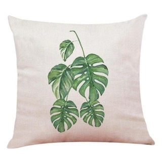 Big Leaf Tropical Plants Throw Pillow Covers 19280696-215