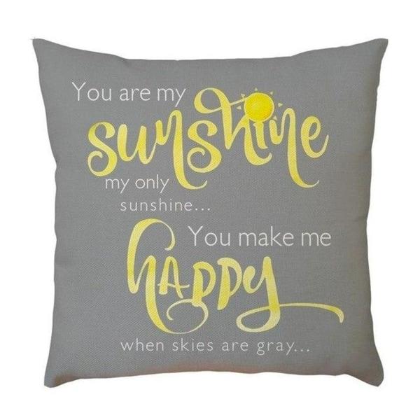 Letter Pattern Pillowcase Sofa Home Car Decor 21305151-835