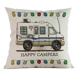 Happy Campers Cotton Linen Pillow Sofa Case 20696418-263