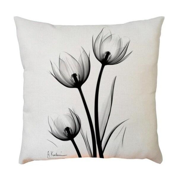 Plant Flower Pattern Throw Pillow Case 45x45cm 21302588-579