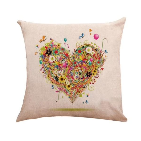 Love Heart Pattern Throw Pillow Case 45x45cm 21304856-777