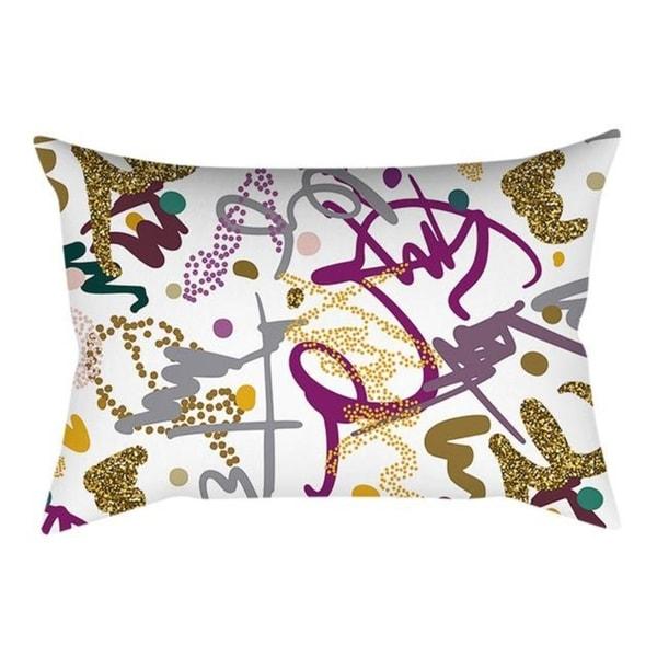 Linen Pink small fresh printing square pillowcase 21304759-737
