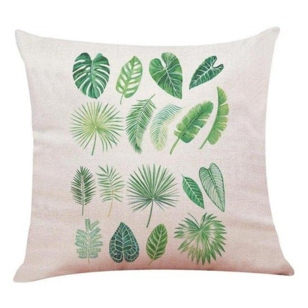 Big Leaf Tropical Plants Throw Pillow Covers 19280696-223