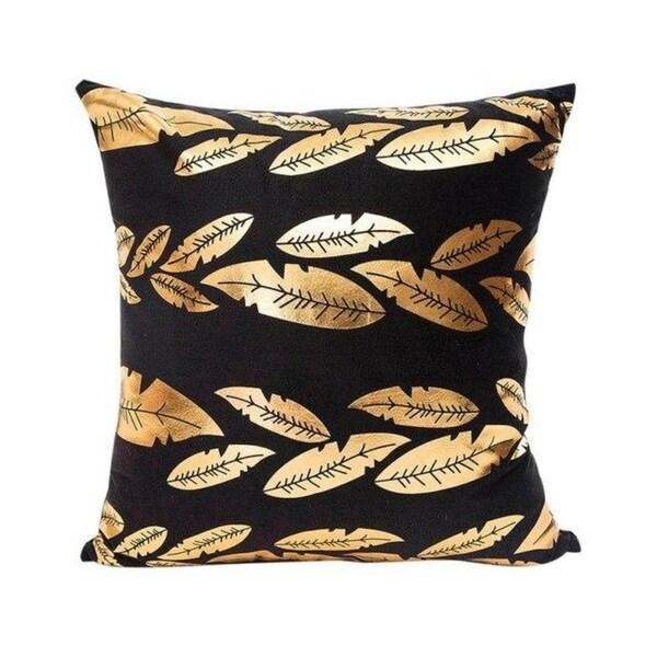 Gold Foil Printing Pillow Case Sofa Decor 45x45cm 21304695-698