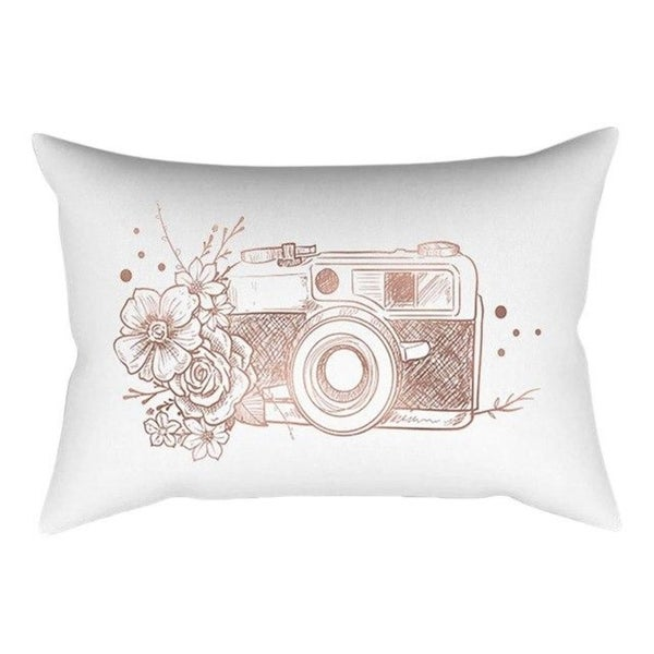 Rose Gold Pink Cushion Cover Square Pillowcase 21299964-368