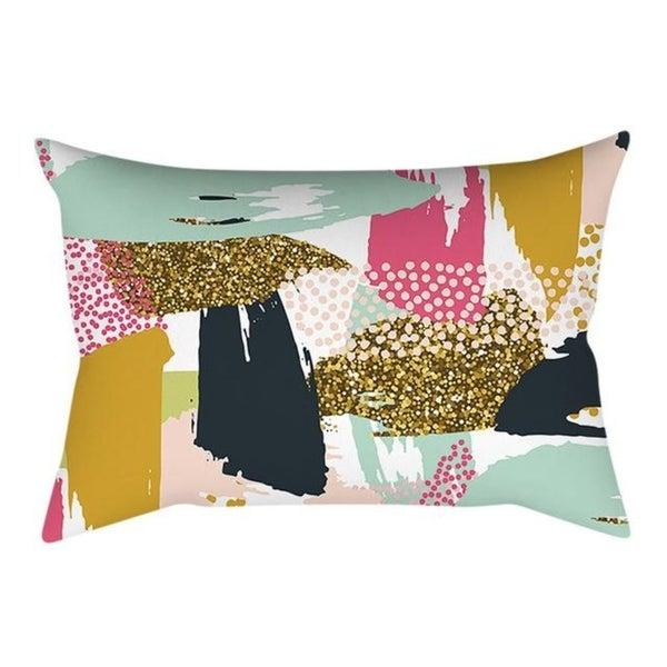 Linen Pink small fresh printing square pillowcase 21304759-732