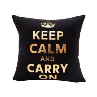 Gold Foil Printing Pillow Case Sofa Decor 45x45cm 21304695-701