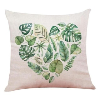 Big Leaf Tropical Plants Throw Pillow Covers 19280696-225