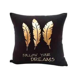 Gold Foil Printing Pillow Case Sofa Decor 45x45cm 21304695-700