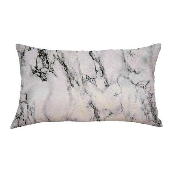 Marble pattern Linen fabric Cushion Cover 30x50cm 18174136-205