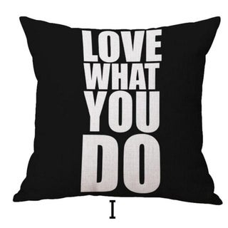 DO WHAT YOU LOVE Printed Throw Pillow Case 45x45cm 21303345-690