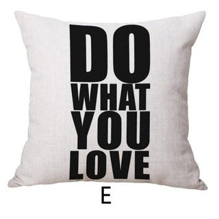 DO WHAT YOU LOVE Printed Throw Pillow Case 45x45cm 21303345-686