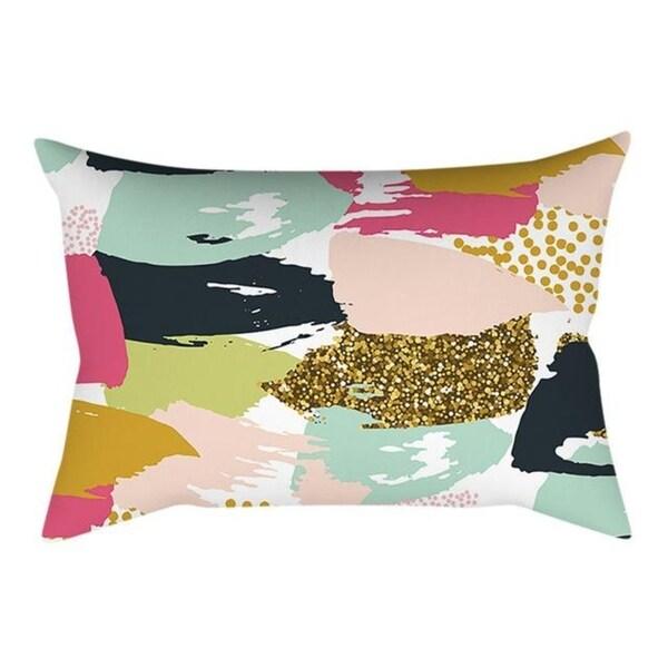 Linen Pink small fresh printing square pillowcase 21304759-730