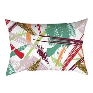 Linen Pink small fresh printing square pillowcase 21304759-739