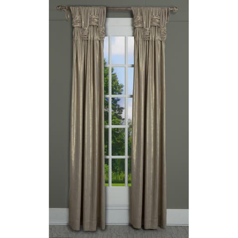 """RT Dressings Chelsea Brook Luxe Cotton Shimmer Single Curtain Panel - 15"""" wide x 95"""" length"""
