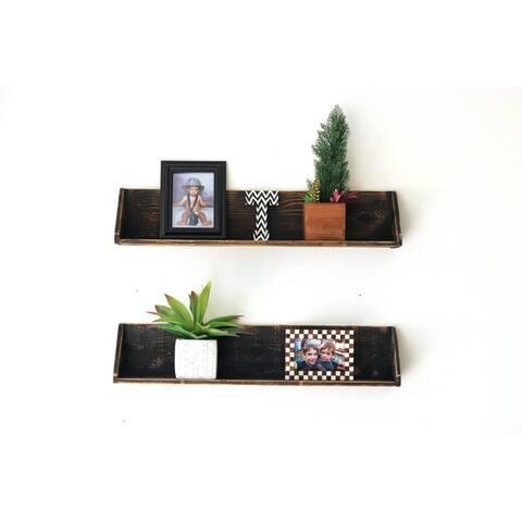 Large Floating Shelves (Set of 2) - N/A