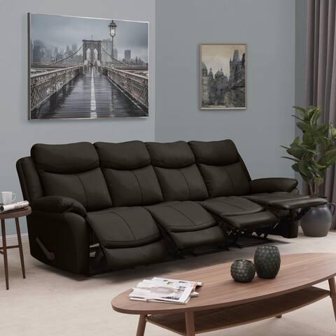 Copper Grove Peqin 4-seat Faux Leather Recliner Sofa