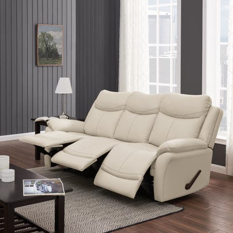 Copper Grove Peqin 3-seat Faux Leather Recliner Sofa