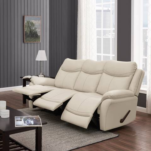 Copper Grove Peqin 3-seat Faux Leather Recliner Sofa