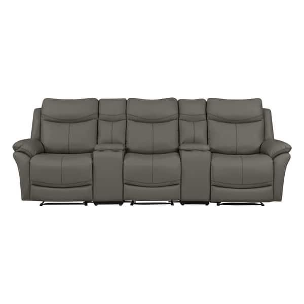 Fantastic Shop Copper Grove Peqin 3 Seat Faux Leather Recliner Sofa Frankydiablos Diy Chair Ideas Frankydiabloscom