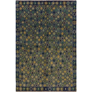 "Balouchi Arya Concepci Gray/Blue Wool Rug (3'11 x 5'11) - 3'11"" x 5'11"""