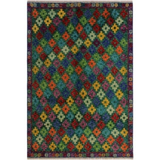 "Balouchi Arya Alia Green/Blue Wool Rug (4'10 x 6'6) - 4'10"" x 6'6"""