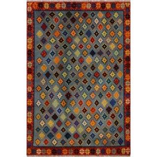 "Balouchi Arya Alishia Gray/Orange Wool Rug (4'10 x 6'6) - 4'10"" x 6'6"""