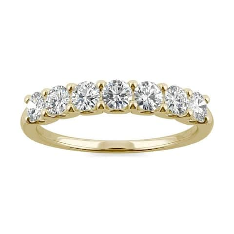 Moissanite by Charles & Colvard 14k Gold 0.70 TGWSeven Stone Anniversary Band