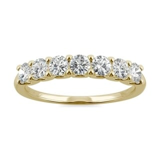 Link to Moissanite by Charles & Colvard 14k Gold 0.70 TGWSeven Stone Anniversary Band Similar Items in Rings