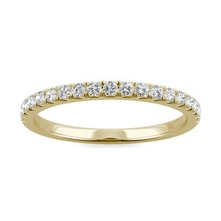 Link to Moissanite by Charles & Colvard 14k Gold 0.29 DEW Wedding Band Similar Items in Rings