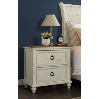 Martin Svensson Home Pine Creek White, Honey-wash Two-drawer Nightstand
