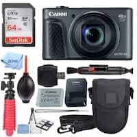 Canon PowerShot SX730 HS Digital Camera (Black) + 64GB Memory Card  Accessory Bundle