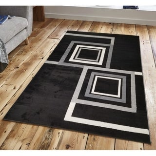 Abstract Geometric Boxes Area Rug
