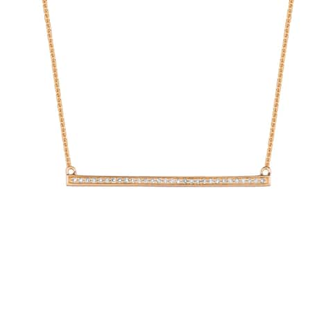 14KT Gold and Diamond Bar Fashion Necklace