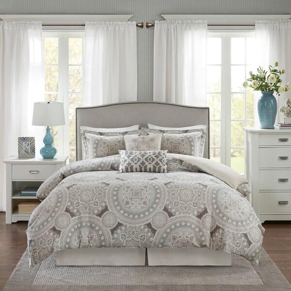 Harbor House Freida Grey Cotton Sateen 6 Piece Comforter Set