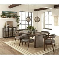Crafted Danish Design Dining Set with Buffet Accent Cabinet