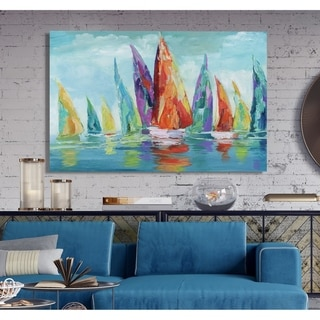 Fine Day Sailing I -Premium Gallery Wrapped Canvas