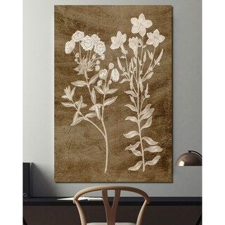 Botanical in Taupe I -Premium Gallery Wrapped Canvas