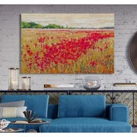 Poppies' Evening Light II -Premium Gallery Wrapped Canvas
