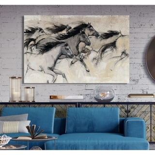 Horses in Motion I -Premium Gallery Wrapped Canvas