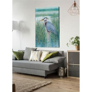 Wetland Heron II -Premium Gallery Wrapped Canvas