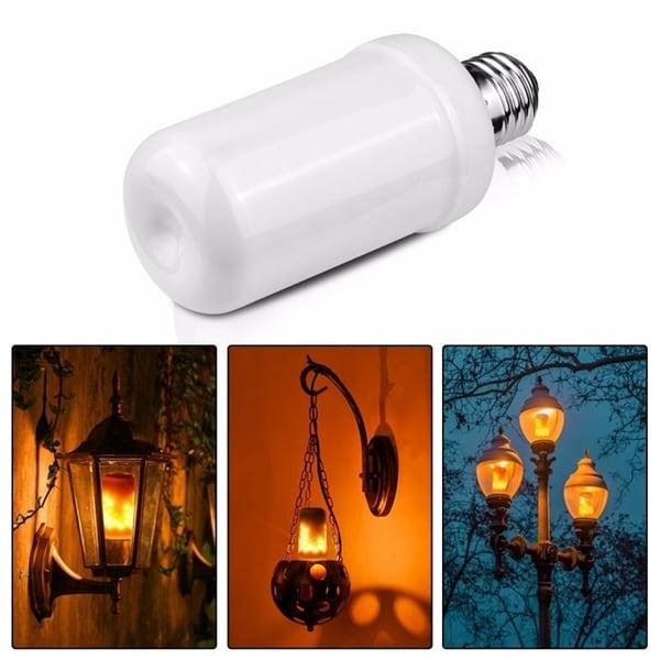 E26 Simulation Flame Effect LED Bulb Corn light Emulation Fire Flicker Burning Flameless Decoration Lamp