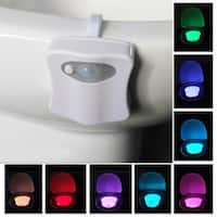 8 Colors Hanging Toilet Bowl LED Automatic Night Light Body Sensing Changing Motion