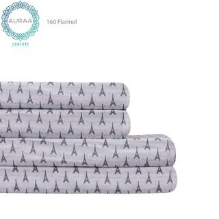 AURAA Comfort Pure Cotton Flannel Supreme Comfort Sheet Set