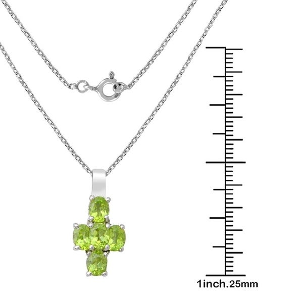 Natural Gemstone Perdiot Aquamarine Pendant Solid 925 Sterling Silver Fine Chain