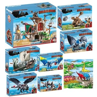 PLAYMOBIL Kids Dreamworks Dragon Mega Toys Set Indoor Games - Multi-color