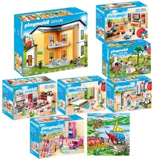 PLAYMOBIL Creative Kids Modern House Mega Toys Kit Indoor Games