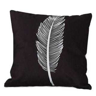 Stripe Lattice Feather Print Sofa Throw Pillow Cover 17377463-202