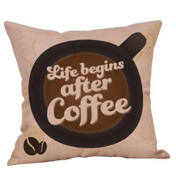 Coffee Print Ocean Beach Sea Cotton Linen Pillow Case 16466462-173